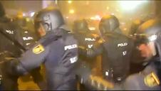 Los Mossos cargan contra los manifestantes