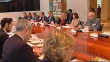 Sánchez preside la reunión del comité de coordinación de la situación en Cataluña