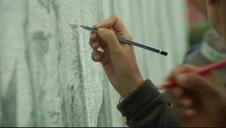 El mayor mural del mundo dibujado a lápiz