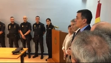 Pedro Sánchez transmite su ánimo a la Policía en Barcelona