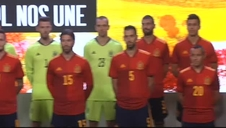 La selección española presenta la camiseta de la Eurocopa 2020