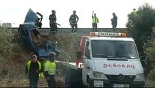 Dos personas fallecidas en una furgoneta tras ser arrolladas por un tren de mercancías