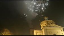 Luces navideñas en la Capilla de San Fermín