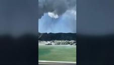 Erupción del volcán más activo de Nueva Zelanda