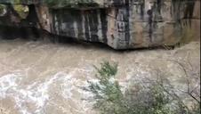 Crecida del río en la Foz de Lumbier