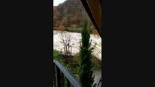 Caudal fuerte del río Ultzama en Trinidad de Arre