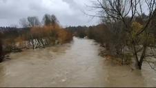 Inundaciones en Pamplona - Puente de la Magdalena