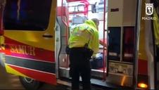 Un hombre fallece al ser atropellado por el camión de basuras en el centro de Madrid