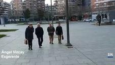 Llegada de los acusados del 'Caso Osasuna' a la Audiencia
