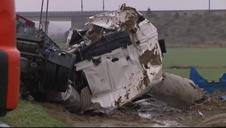 Tres personas fallecen en un choque frontal entre dos camiones en Osera de Ebro (Zaragoza)