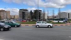 Vídeo de problemas de tráfico en Pamplona por los tractores