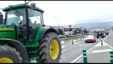 Vídeo | Llegada de tractores por Noáin