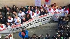 Vídeo | Encierro simulado con tractores en Pamplona