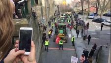 Vídeo | Encierro simulado con tractores en Pamplona (II)