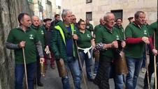 Vídeo | Encierro simulado con tractores en Pamplona (III)