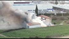 Vídeo del accidente de la avioneta que se ha estrellado en Noáin