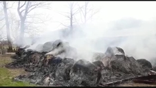Vídeo | Incendio en una granja de ovejas en Sakana