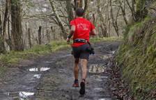 Un corredor en la Carrera de Montaña de Lesaka, la última cita disputada.