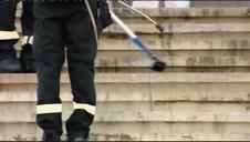 Vídeo | La UME desinfecta la Biblioteca Nacional y el Museo Arqueológico