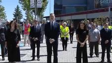 Vídeo: Minuto de silencio por las víctimas del Covid en el último día de luto oficial
