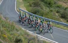 El  Caja Rural-RGA inspeccionó el pasado lunes el recorrido de la etapa entre Pamplona y Lekunberri.