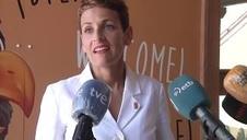 María Chivite visita el Parque Senda Viva