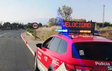 Un control de velocidad de la Policía Foral.