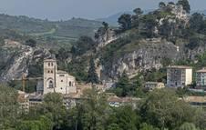 Vista panorámica de la iglesia de San Pedro de la Rúa de Estella