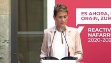 Vídeo: María Chivite presenta el Plan Reactivar Navarra