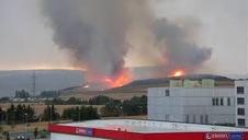 Incendio en Gazólaz causado por un rayo