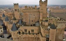 Vista aérea del Castillo de Olite.