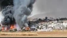 Un incendio provoca el desalojo de un camping en Málaga