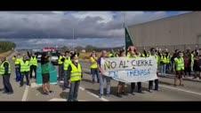 Protesta de los empleados de Trenasa
