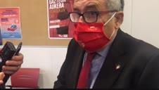 Reacción de Sabalza a la suspensión del juicio por delito fiscal a la directiva de Osasuna de 2013