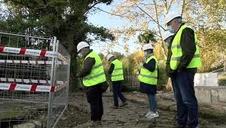 Vídeo del pozo que han dejado al descubierto las obras del parque Txantrea Sur