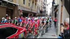 Vídeo: El pelotón de la Vuelta, en la Estafeta