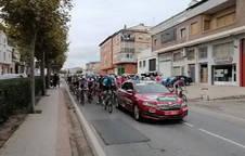 Salida de la tercera etapa de La Vuelta desde Lodosa