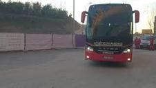 Llegada de los jugadores del Atlético a El Sadar