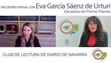 Encuentro del Club de lectura de Diario de Navarra con la ganadora del Premio Planeta