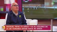 La emoción del utillero del Tomares por enfrentarse a Osasuna en la Copa