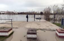 Embarcadero del río Ebro a su paso en Tudela.