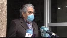 Nieves, primera en recibir la segunda dosis de la vacuna en Galicia: