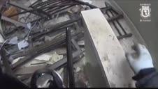 Esto fue lo que se encontraron los bomberos tras la explosión de Madrid