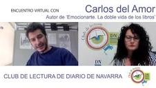 Encuentro del Club de Lectura de Diario de Navarra con el escritor y periodista Carlos del Amor