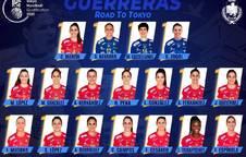Selección absoluta femenina de balonmano que disputará el Preolímpico en Llíria.