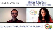 Ibon Martín Álvarez presenta 'La hora de las gaviotas' en el Club de Lectura de Diario de Navarra