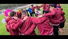 Celebración de los jugadores del Tudelano del ascenso a la nueva Primera RFEF