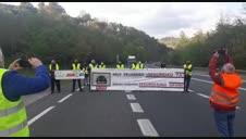 Vídeo de cortes de protesta en la N-121-A en Baztan