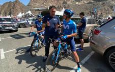Chente García, en una etapa del Tour UAE de este año