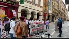 Vídeo de la protesta de las trabajadoras del SAD de Pamplona